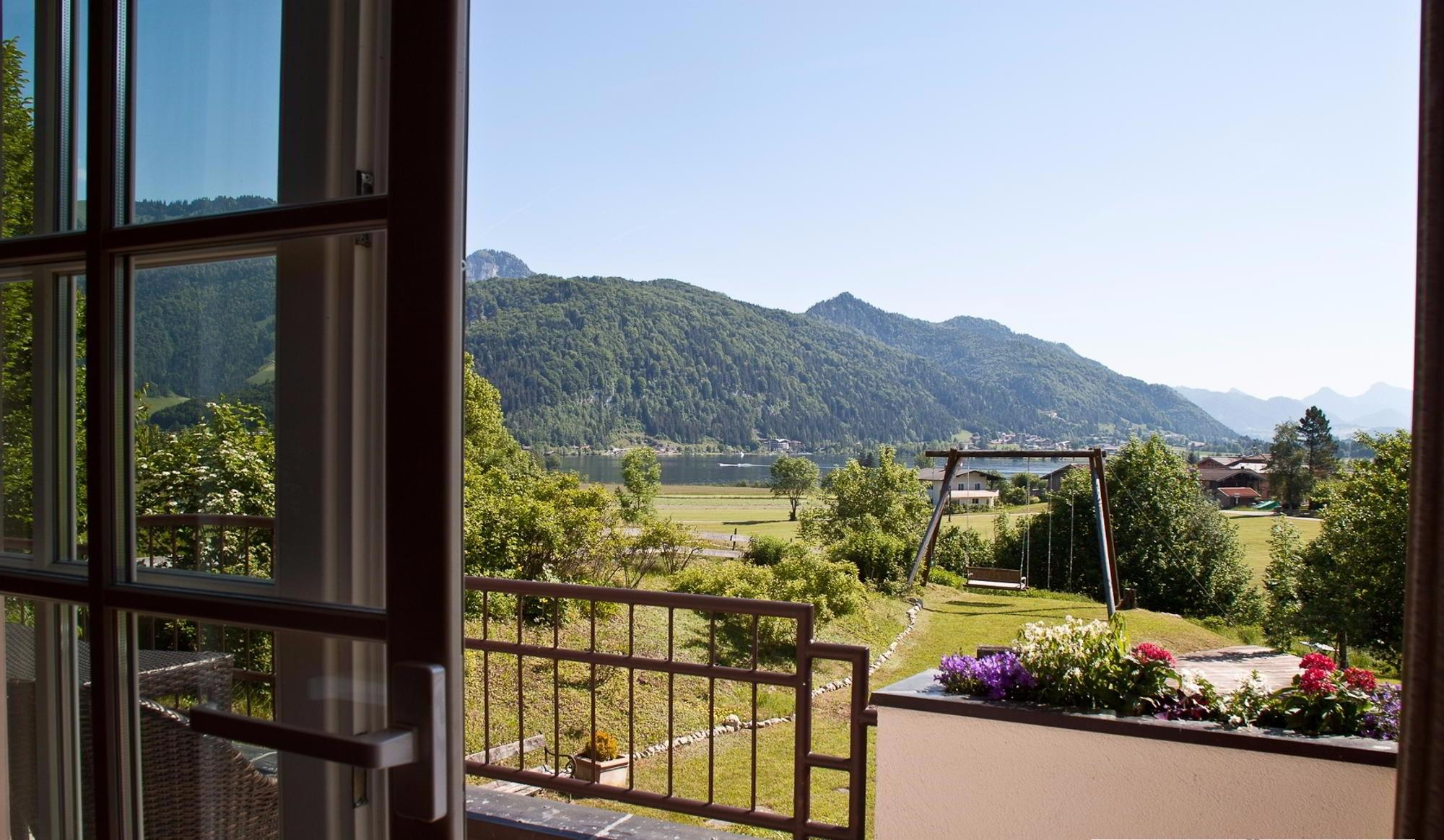 Comfortable country villa with a lake view in village of Walchsee