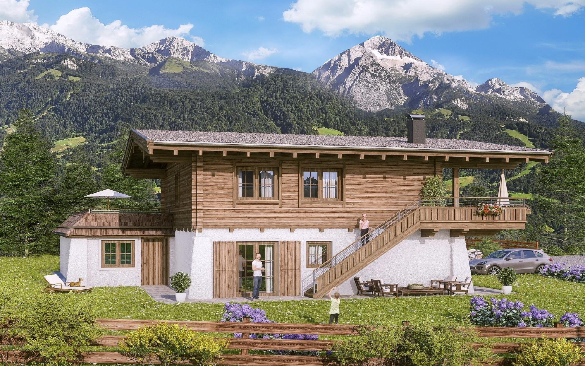 Fox chalet on the edge of a forest in St. Ulrich for Sale - Tirol - Austria